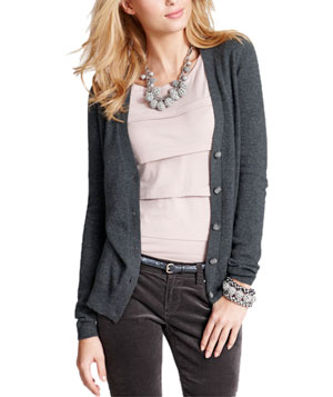 Cashmere V-Neck Cardigan by Ann Taylor