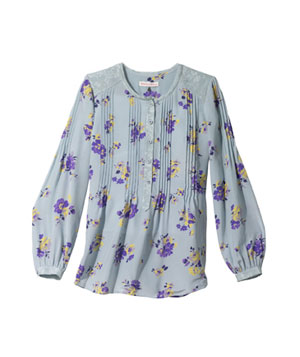 Pin Tuck Meadow Blouse by Rebecca Taylor