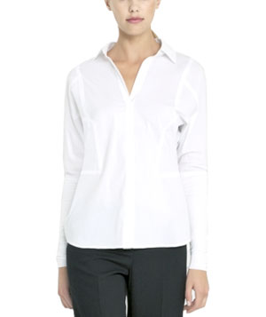 Contrast Button-Down Shirt by BCBGMaxazria
