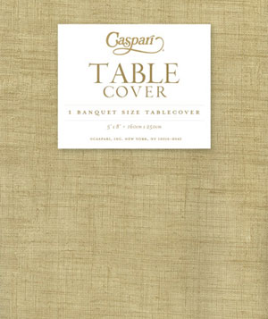 Natural Linen Banquet Tablecover