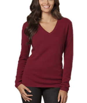 Cashmere V-Neck Sweater by The Limited