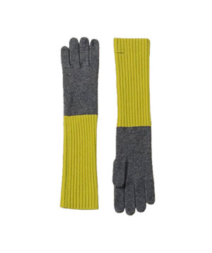Cashmere Fold-over Gloves by Lands' End Canvas