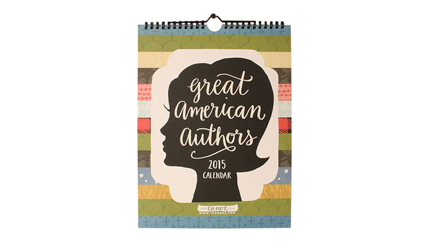 Great American Authors Literary Calendar