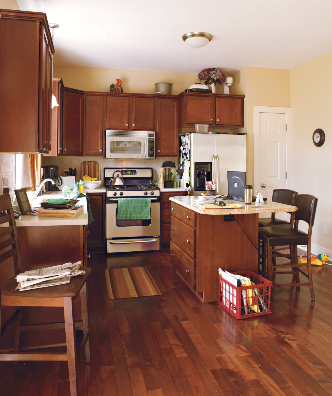 A cluttered kitchen