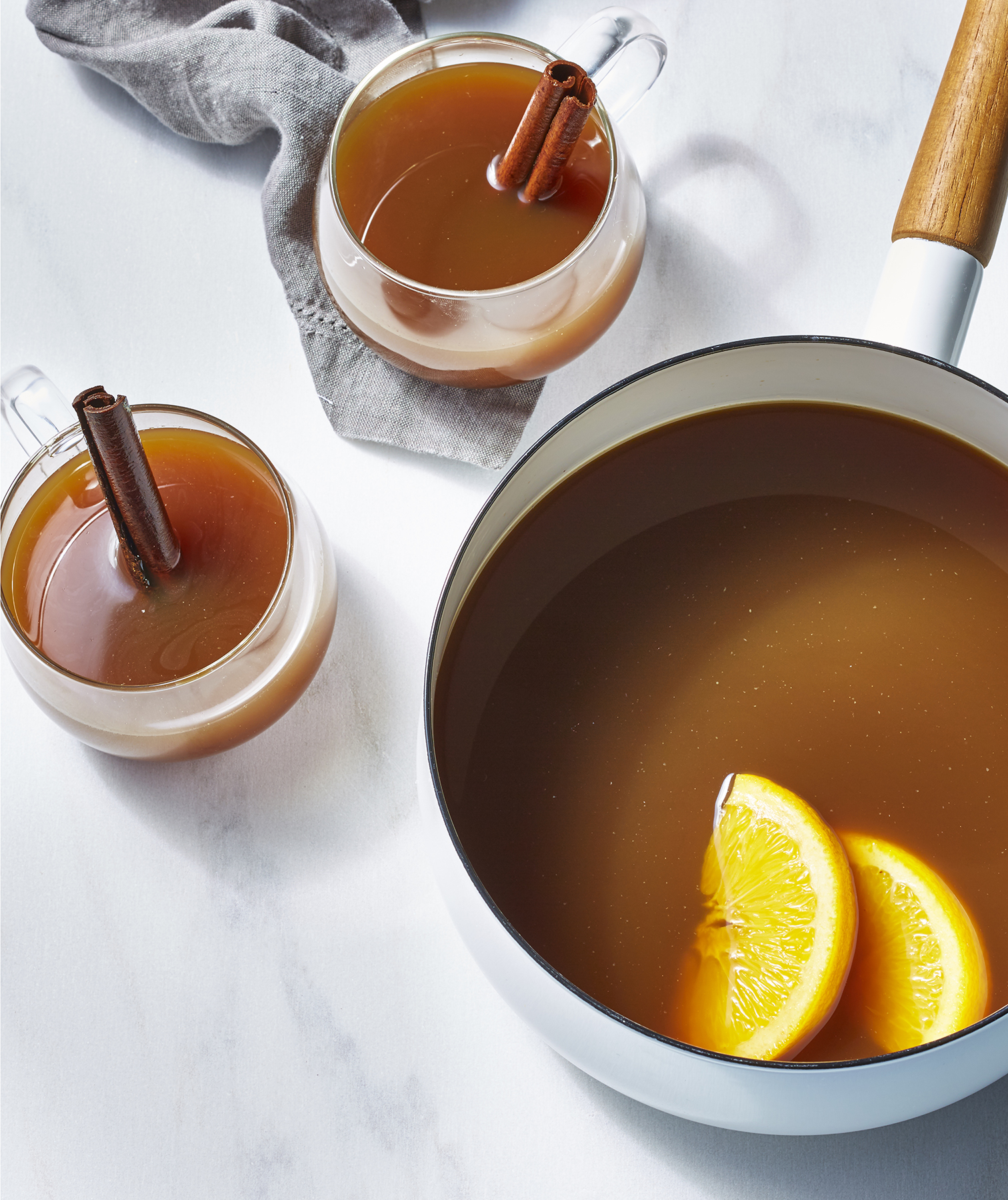 Molasses-Spiced Spiked Cider