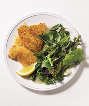 Crispy fried pork cutlets