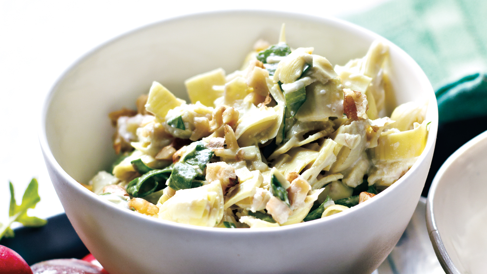 Artichoke and Spinach Relish With Walnuts