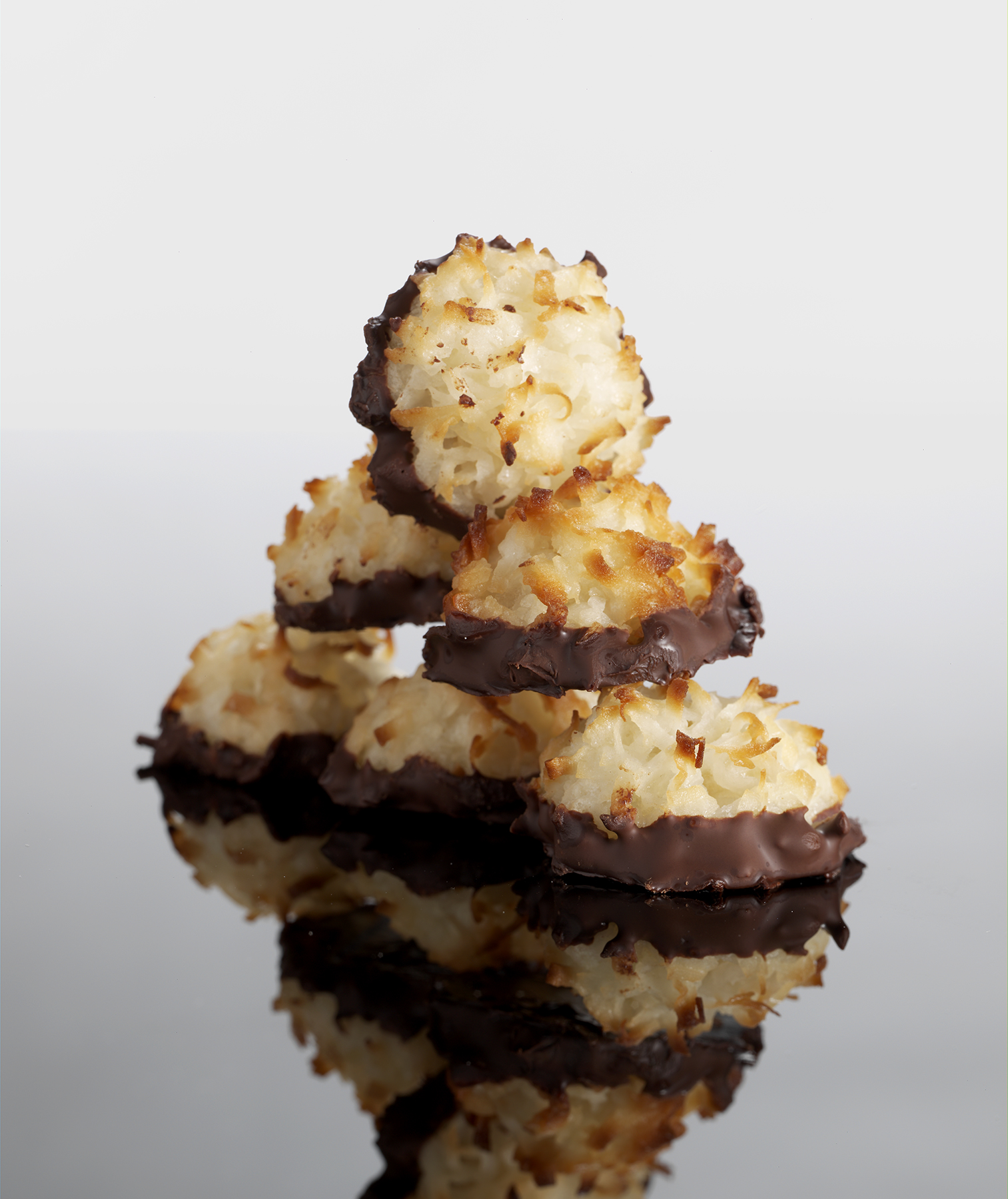Chocolate Dipped Coconut Macaroons Recipe Real Simple