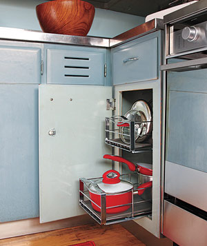 Cabinet pull-out rack organizers