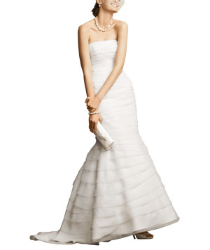 Two-in-One Layered Organza Fit-and-Flare Gown