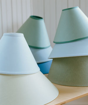 Colored lamp shades