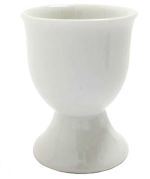 White Porcelain Egg Cup from Sur La Table