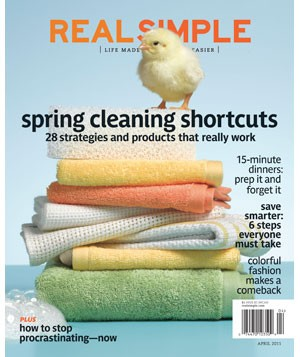 Real Simple April 2011 cover