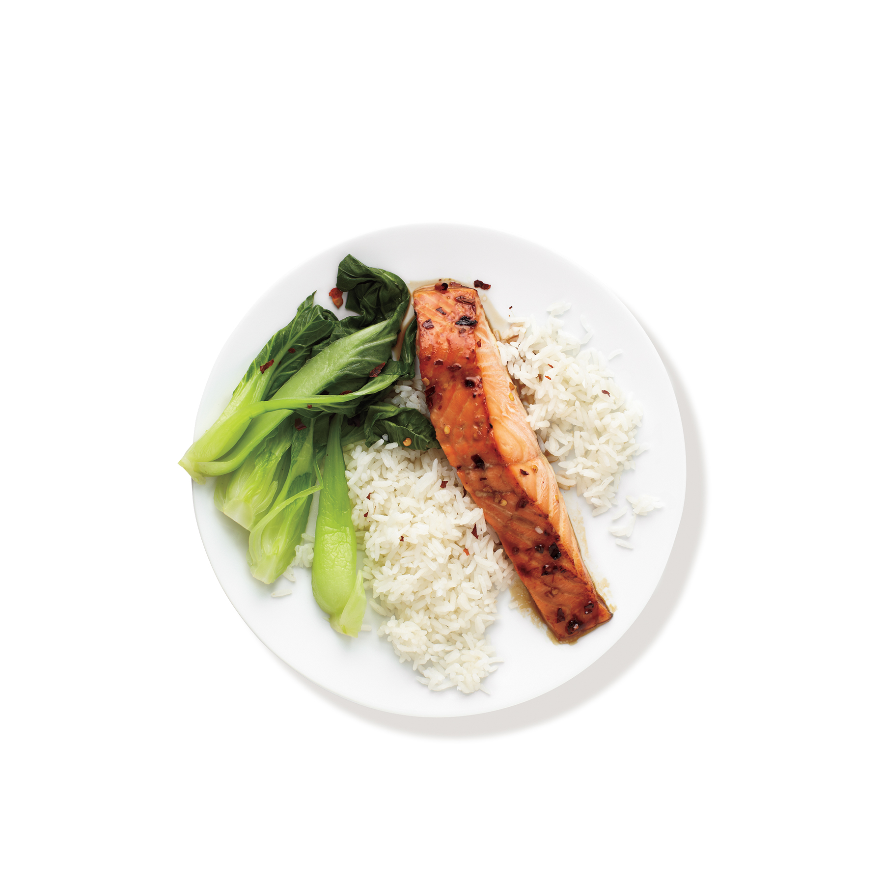 Dinner Ideas: Spicy Salmon With Bok Choy and Rice