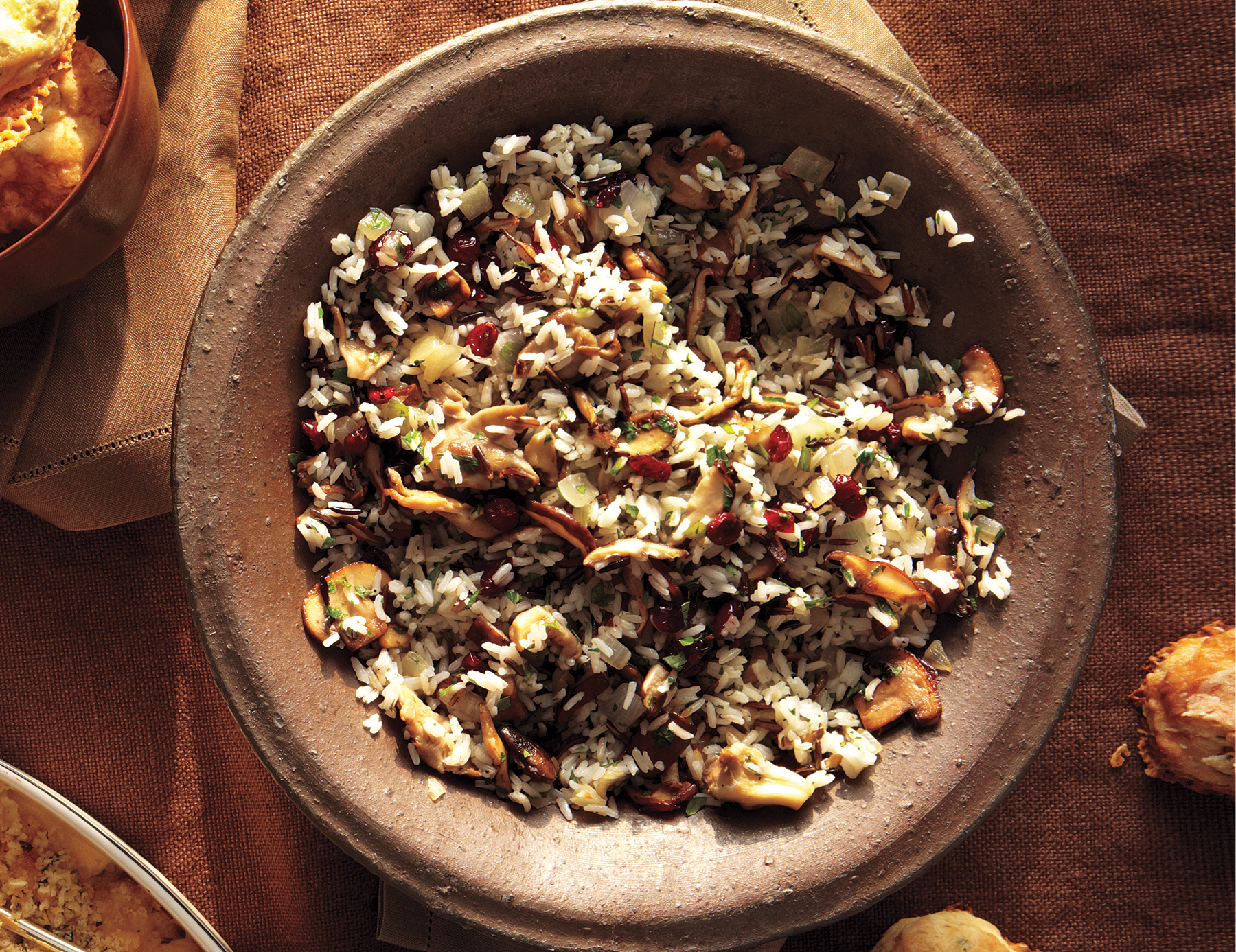 Wild Rice and Mushroom Pilaf With Cranberries