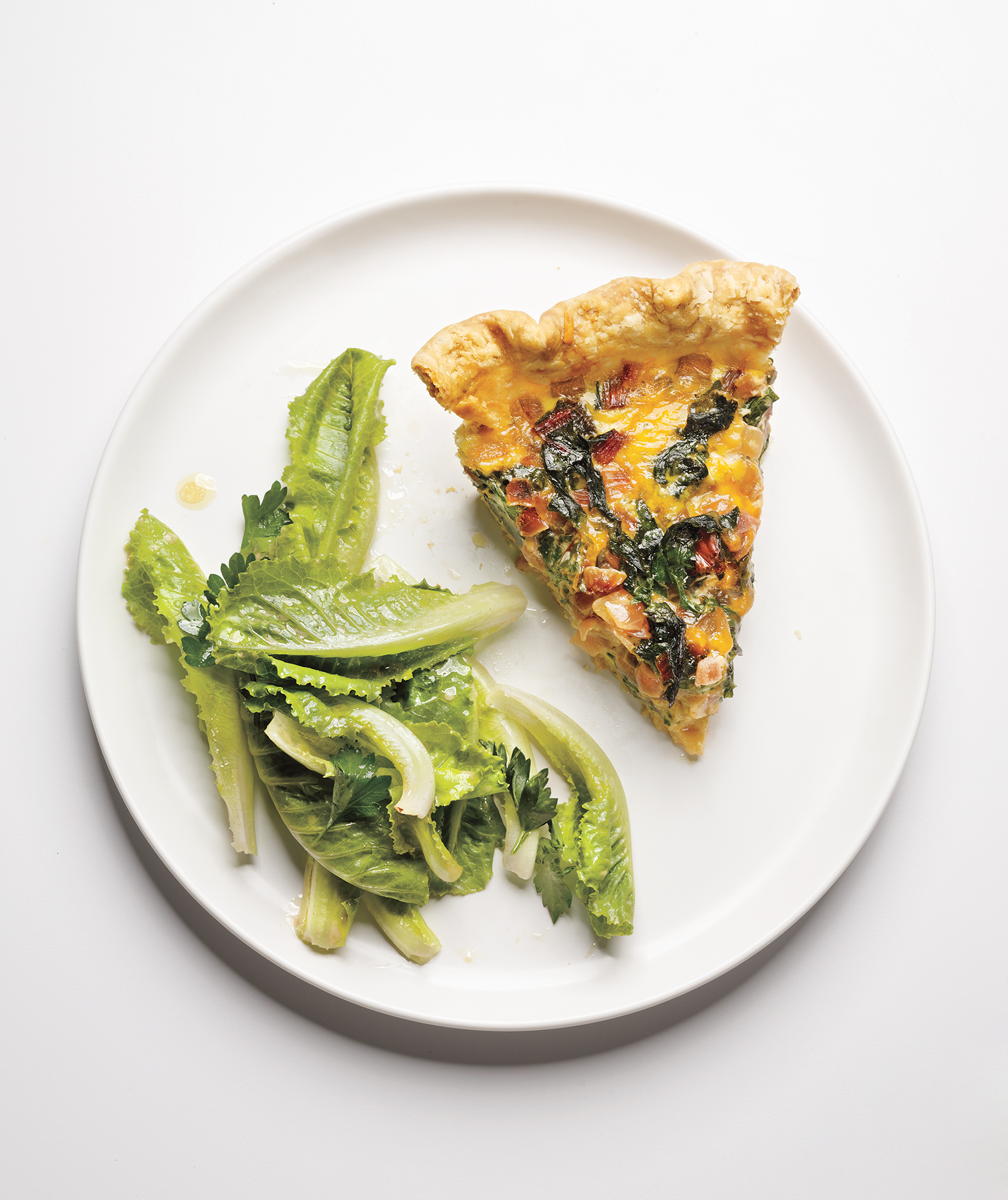 Swiss Chard and Cheddar Quiche