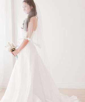 Bride in a wedding gown