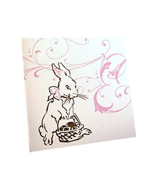 Easter Bunny Holiday Greeting card