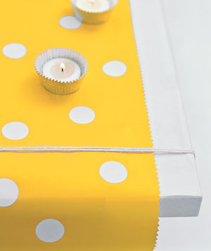 Table runner and candles