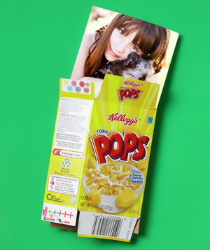 Cereal Box as Photo Saver