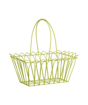 Green Wire Basket with Handle