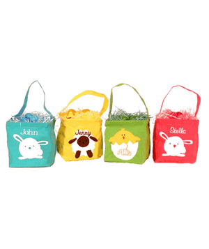 Personalized Easter Basket Bag