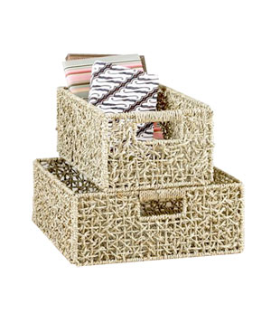 World Market Natural Collapsible Seagrass Basket