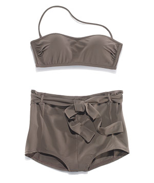 Retro-cut two-piece swimsuit from the Gap