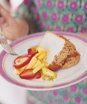 Angel Food Cake With Lime Drizzle