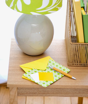 Decorative stationary and pen on table