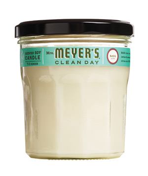 Mrs. Meyers Scented Soy Candle in Basil