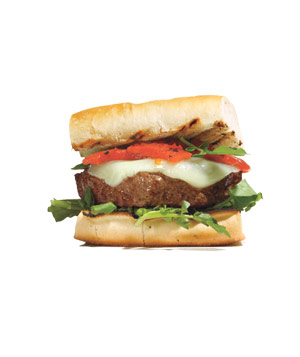 Burgers With Manchego and Roasted Peppers