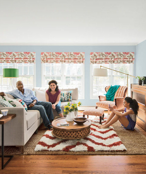 Jill Bannister and Max Maxwell's living room after makeover