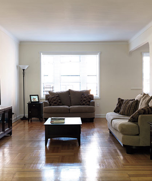 Shanta's living room before the makeover