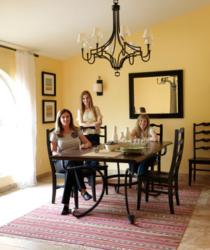 Spanish rustic dining room after the makeover with Tami and family