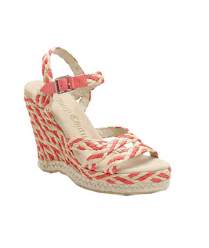 Juicy Couture Two-Tone Straw Wedge Espadrilles