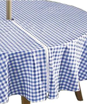 Zippered Gingham Tablecovers