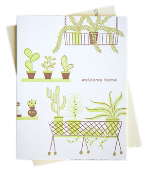 Hello Lucky! Houseplants card