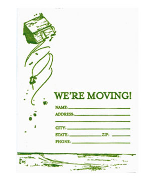 Blue BarnHouse We're Moving card