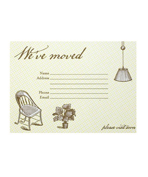 Hello Lucky! We've Moved card