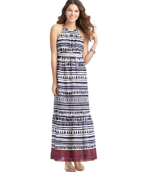 Loft Tribal Stripe Maxi Swimsuit Cover Up