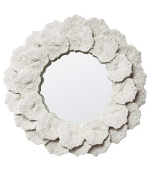 Coral petal mirror by Made Goods