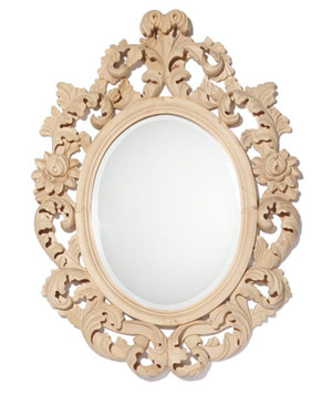 Baroque Acanthus oval mirror by Roost