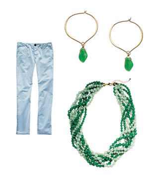 J Brand cotton pants, Andrea Montgomery earrings and Towne & Reese necklace