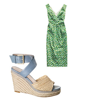 Boden dress and Rosegold espadrilles