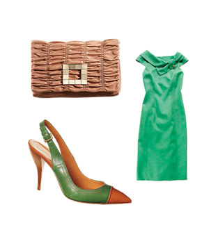 David Meister dress, Nine West clutch and Edmundo Castillo heels