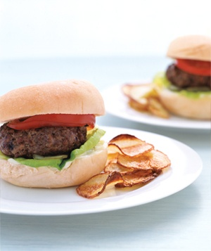Hamburgers with Oven Chips