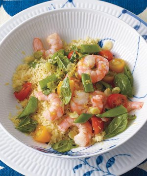 Lemony Shrimp Salad With Couscous
