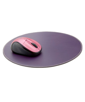 See Jane Work Leather Mousepad
