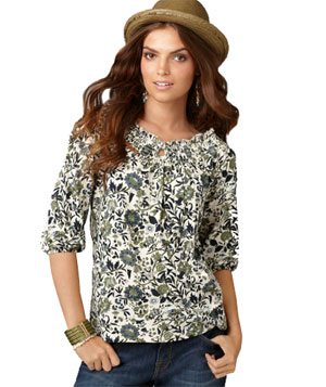Lucky Brand Catalina Floral Top